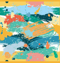 colorful seamless pattern with splashes and blobs vector image vector image