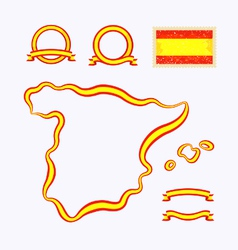 Colors of Spain vector image