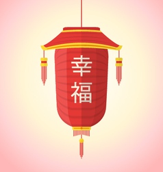 flat style chinese new year red lantern vector image vector image