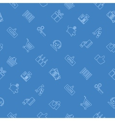 pattern of purchases and delivery vector image