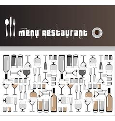 restaurants and bars menus vector image