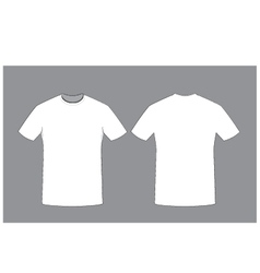 white man t-shirt template front and back sides vector image vector image