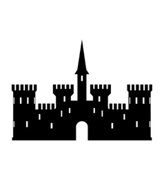Abstract castle logo template vector image