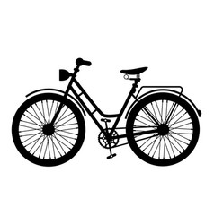 bike icon black bicycle symbol silhouette vector image