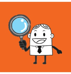 Business Man Search vector image vector image