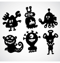 Cute monster doodle vector image