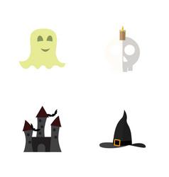 flat icon celebrate set of cranium spirit witch vector image vector image
