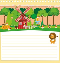Paper design with farm theme vector image vector image