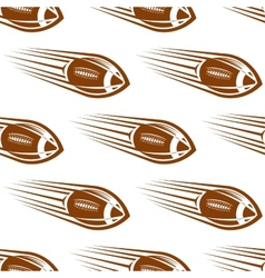 Seamless pattern of a speeding rugby or football vector