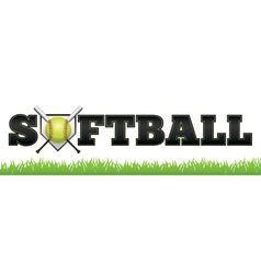 Softball Word vector image