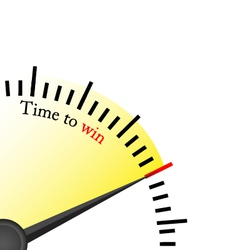 time to win - speedmetter vector image vector image