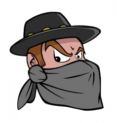 bandit vector image vector image