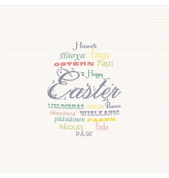 Easter typography multi language background vector image vector image