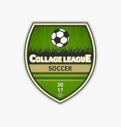 green football logo soccer logotype vector image