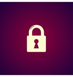 lock icon Flat design style vector image vector image