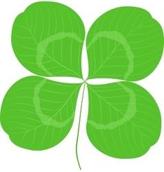 Quatrefoil leaf clover sign icon Good Luck or vector image