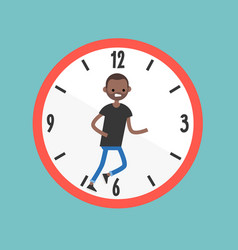 running out of time conceptual deadline flat vector image
