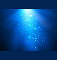 Abstract blue water background with sunbeams vector