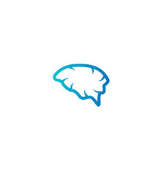 abstract brain logo icon template vector image