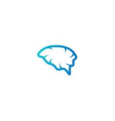 abstract brain logo icon template vector image