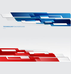 Abstract header blue red and white shiny vector