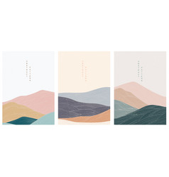 Abstract landscape background with japanese vector