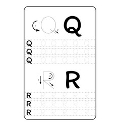 Alphabet letters tracing worksheet with alphabet vector