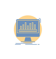 analytics processing dashboard data stats glyph vector image