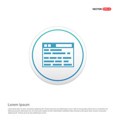 Application interface icon hexa white background vector