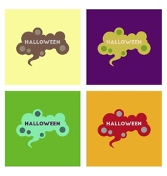 assembly flat icons halloween sign vector image