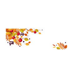 Autumn abstract background with space for text vector