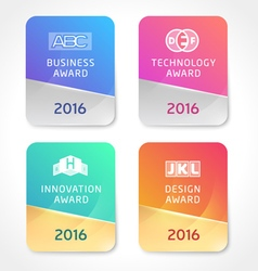 Award Icons vector image