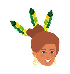 Beautiful brazilian garota head character vector