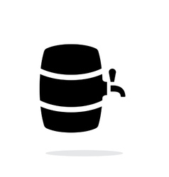 Beer barrel simple icon on white background vector image