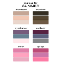 Best makeup colors for summer type of appearance vector