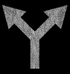 bifurcation arrow up fabric textured icon vector image