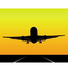 black silhouette of an airplane vector image