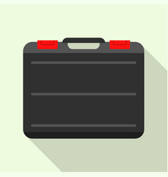 Black welder tool bag icon flat style vector