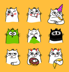 Cats expressions collection vector