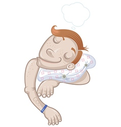 Child sleeping vector image