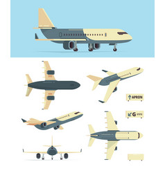 civil aviation plane model different airplanes vector image