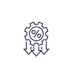 Cost optimization efficiency line icon vector