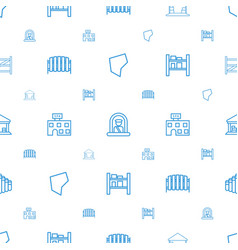 Country icons pattern seamless white background vector