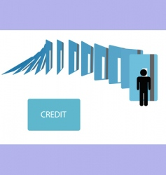 Credit card debt vector