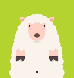 cute fat big lamb vector image