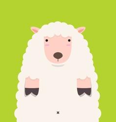 Cute fat big lamb vector