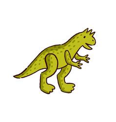 Cute hand drawn dinosaur baby toy flat vector