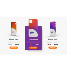design product cards for an online store vector image