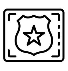 Detect police emblem icon outline style vector
