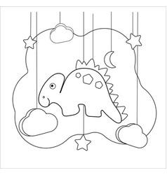 Dino stegosaurus coloring page vector